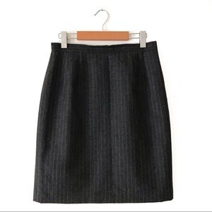 Talbots Wool Pinstripe Pencil Skirt 8 Grey
